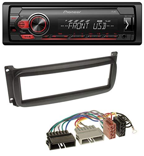 caraudio24 Pioneer MVH-S110UB AUX MP3 USB 1DIN Autoradio für Chrysler Grand Voyager Neon PT Cruiser Sebring Jeep Cherokee Pt Cruiser Stereo