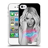 Head Case Designs Offizielle Britney Spears Neon Schwarz Und Weiss Soft Gel Hülle für iPhone 4 / iPhone 4S