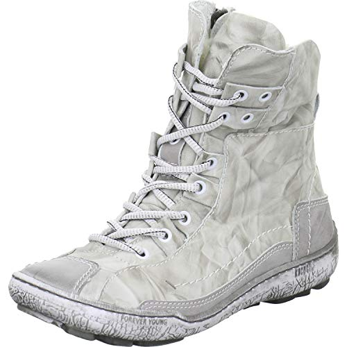 4-6424 grau-schwarz Kacper Damen Boots