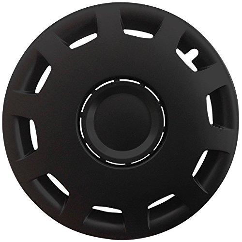 (Farbe & Größe wählbar) 14 Zoll Radkappen GRANIT Schwarz passend für fast alle gängingen Fahrzeuge (universal)