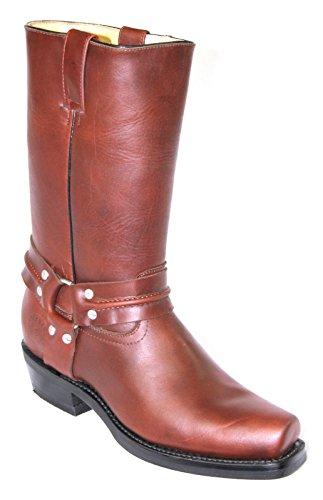 Grinders Renegade Salut Tan Cajeta bottes en cuir unisexe bottes de cowboy Western Bikers