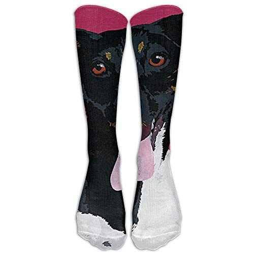 UFHRREEUR Jack Russell Terrier Dog Winter Compression Socks for Men & Women - Best for Running, Nurses, Shin Splints, Flight Travel, Skiing & Maternity Pregnancy - Boost Athletic Stamina & Recovery