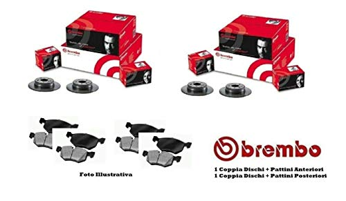 Dettagli su Dischi Pastiglie Freno Anteriori Posteriori Brembo X-Type - Mondeo