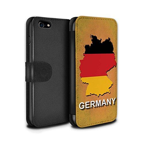Stuff4 Coque/Etui/Housse Cuir PU Case/Cover pour Apple iPhone 5C / Italie/Italien Design / Drapeau Pays Collection Allemagne/Allemand