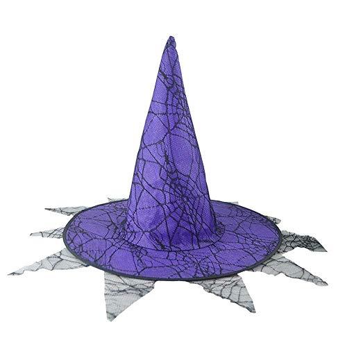 ZHRUI Halloween 1Pcs Doppeldecker Adult Womens Hexe Hut -