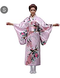 72ce413560 Bulary Albornoz Ropa de Estilo japonés Tradicional para Mujer Estilo Kimono  japonés Seda Artificial COS Uniforme
