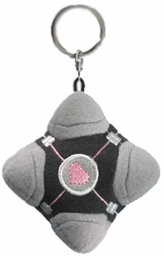 Portal 2 Weighted Companion Cube peluche portachiavi