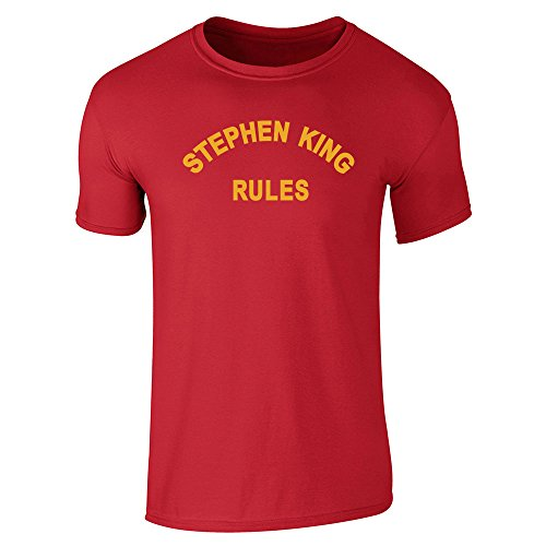 Pop Threads Mens Stephen King Rules Shirt From The Monster Squad Short Sleeve T-Shirt