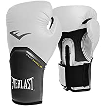 Everlast Boxen Handschuhe - Guantes de boxeo para combate, color blanco, talla única
