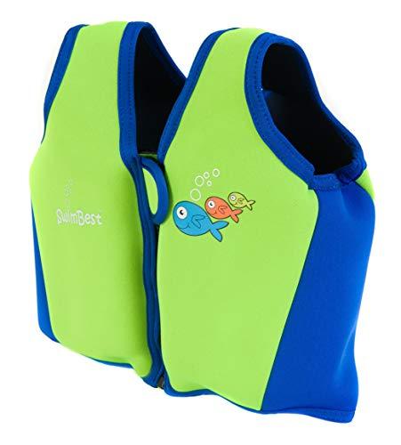 Swimbest Gilet/Giubbotti da Nuoto -3-4 Anni - Verde e Blu Reale (SJTWS3-03)