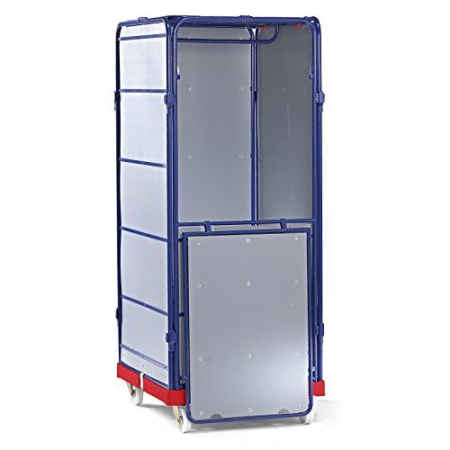 E.S.B. Rollbehälter SAFE - Logistikbox, HxBxT 1785 x 720 x 810 mm - Rollplatte rot - Logistikbox Logistikboxen Transportbox