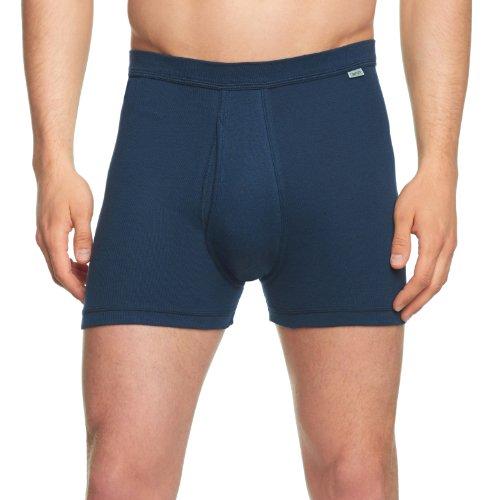 Huber Herren Unterhose Comfort Pant kurzes Bein mit Eingriff Blau (MARINE 0386)
