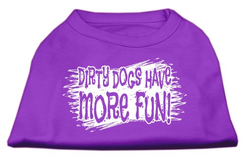 Mirage Pet Products Schmutzige Hunde Screen Print Shirt lila XXXL (20) -