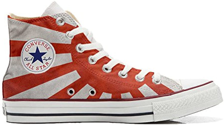 Converse All Star Personalisierte Schuhe (Custom Produkt) mit Japan Flagge