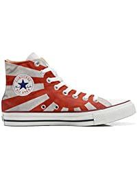 Converse All Star Customized - Zapatos Personalizados (Producto Artesano) La Bandera Japonesa - TG40