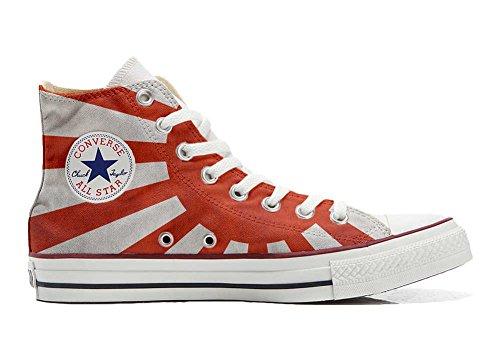 Converse Customized Chaussures Coutume (produit artisanal) avec drapeau du Japon