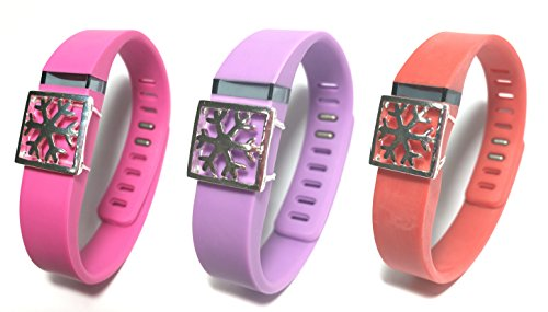 3pcs Fashion Wristband for Fitbit Flex with Clasp Wireless Activity-fitness Band Bling Accessory- Dress Outfit.