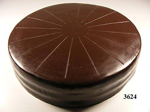 ERRO Schokotorte Ohne Verzierung Lebensmittelattrappe - Fake Food Schokoladen-Torte, Tortenattrappe aus Kunststoff, Theaterdeko