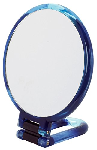 Danielle-Creaciones-mano-espejo-giratorio-14-cm-color-azul