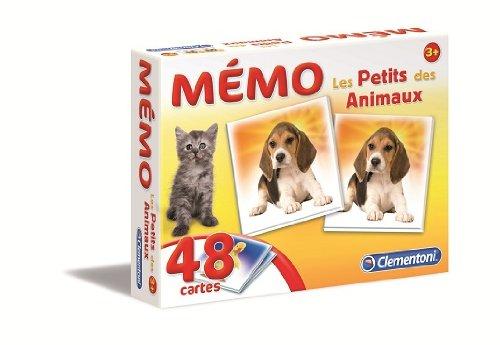 Clementoni - 62477 - Jeu Éducatif et Scientifique - Memo Games - Les Petits des Animaux