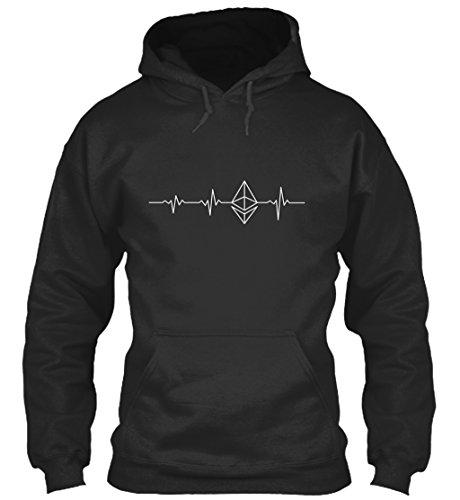 Sudadera con Capucha Teespring para Hombre - XL - Ethereum Heart Beat t shirt