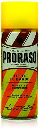 Proraso Yellow Tutte Le Barbe Nutriente E Rigenerante Rasierschaum, 1er Pack (1 x 400 - Rasierschaum Proraso