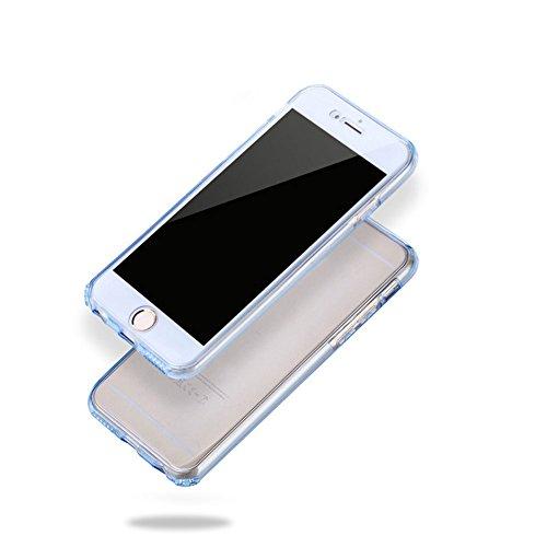 Funyye per iphone 7 Plus Cover 360 Gradi Fronte Retro Silicone Morbido Sottile Leggero Gel Protettiva Case Flessibile Slim Thin Skin Shell Protezione Custodia con [Pellicola Protettiva] Per iphone 7 P Grigio