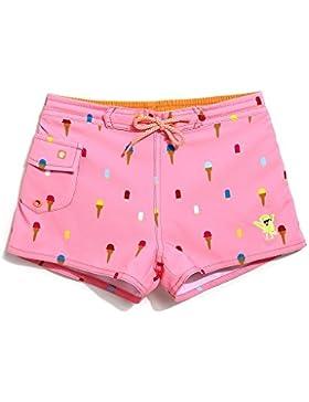 Lantra Besa Hochwertige Mädchen Kinder Badehose Badeshorts Mini Shorts für Wassersport Freizeit im Sommer Rosa...