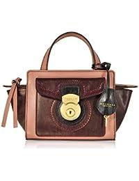 c18123909435 The Bridge Women s 0430284I9D Burgundy Pink Leather Handbag