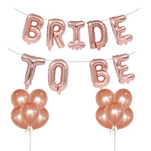 Tumao 16 Zoll Bride to BE Rosa Folienballons Luftballons , 12 Zoll Rose Gold Luftballons Latex Luftballons Geburtstag Party , Geburtstag, Brautdusche, Party Dekoration, Valentinstag. (Valentinstag Billig Dekorationen)