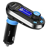 FM Transmitter Bluetooth Auto KFZ Radio Adapter Freisprecheinrichtung Car Kit 2 USB Ladegerät, AUX-Eingang, U Disk und TF Karte Slot