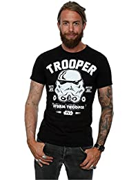 Star Wars Herren Stormtrooper Collegiate T-Shirt Large Schwarz