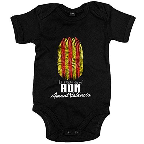 Body bebé lo tengo en mi ADN Valencia Valenciana fútbol - Negro, 6-1