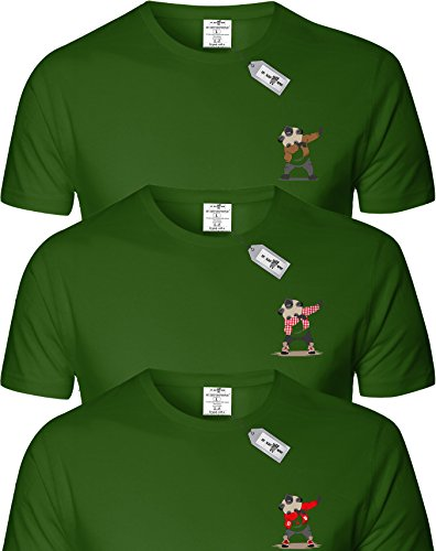 Eat Sleep Shop Repeat -  T-shirt - Uomo MILITARY GREEN x 3
