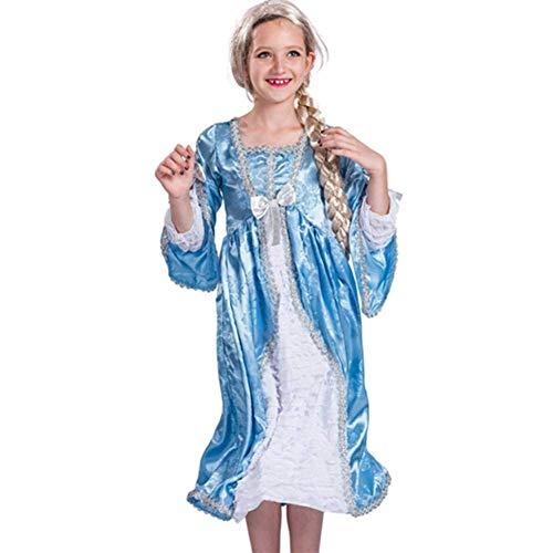 Pkfinrd Halloween Set Kinder Bühnenkostüm blau Prinzessin Märchen Drama Spiel Kostüm (Size : - Märchen Kostüm Männlich