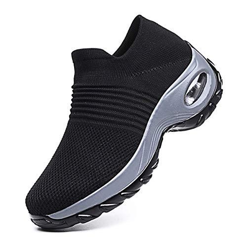 Mujer Ligero Malla para Casuales Running Aumentar Zapatillas De Deporte Caminar Confortable Zapatos...