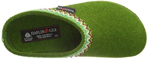 Haflinger Unisex-Erwachsene Francisco Pantoffeln Grün (Grasgrün 36)