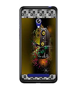 PrintDhaba Music D-5727 Back Case Cover for ASUS ZENFONE 5 A501CG (Multi-Coloured)