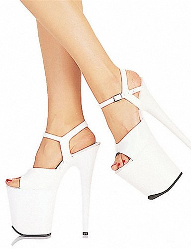WSS 2016 Chaussures Femme-Mariage / Soirée & Evénement-Noir / Rouge / Blanc-Talon Aiguille-Talons / Bout Ouvert-Chaussures à Talons / Sandales- white-us5.5 / eu36 / uk3.5 / cn35