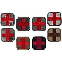Preisvergleich für B Baosity 8 STK. Erste Hilfe Rotes Kreuz Patches Aufkleber Klettverschluss Applikation für Outdoor