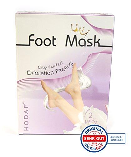 Fussmaske zur Hornhautentfernung, Fußpeeling, Peeling- Maske, 2 Paar (Baby-fuß-peeling)
