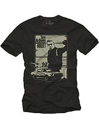 Vintage T-Shirt Noir Homme BULLITT Taille S-XXXL