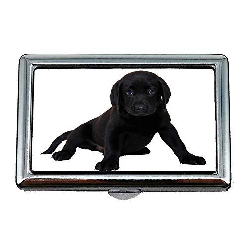 Zigarettenetui/Box, isoliert Labrador Hund Tier reinrassigen Hund Welpen, Visitenkartenetui Visitenkartenetui Edelstahl