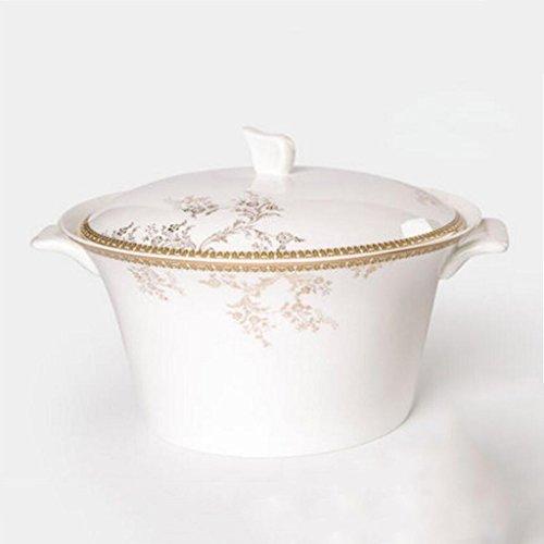Liuyu Cocina Inicio Binaural Bone China Sopa de Sopa Grande Sopa de Sopa 9 Pulgadas Sopa Bowl (Tamaño : B)