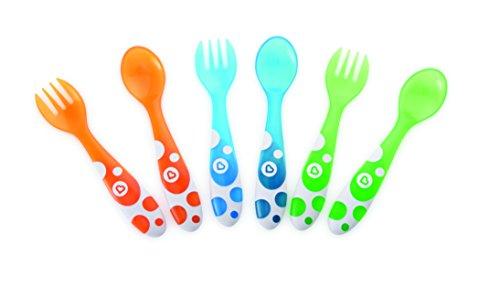 Munchkin-011454-Set-de-3-tenedores-y-3-cucharas-surtido-de-colores
