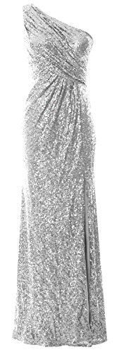 MACloth - Robe - Asymétrique - Sans Manche - Femme silver