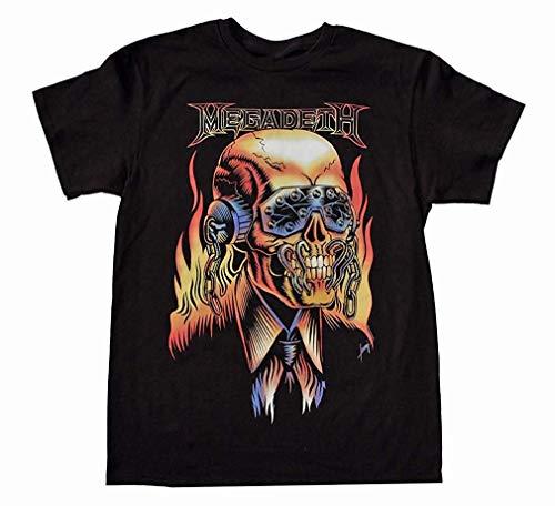 Trendy Megadeth Camiseta con gráfico de Moda Vic Rattlehead para...