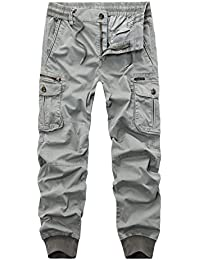 23f79066fb AYG Pantalones Slim Cargo Para Hombre Largos Casuales Deporte 28-38