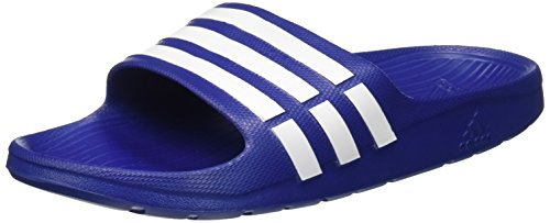 Adidas duramo slide, ciabatte da unisex adulto, blu (true blue/white/true blue), 43 eu (9 uk)