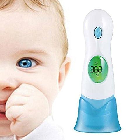 Ear Front Bébé Thermomètre - Maximiou 8 en 1 LCD Numérique Infrarouge sans Contact Thermomètre Bébé pour Bébé pour Animal Domestique Jouet Enfant Maison de Famille Testeur de Température Outil de Soins de Santé